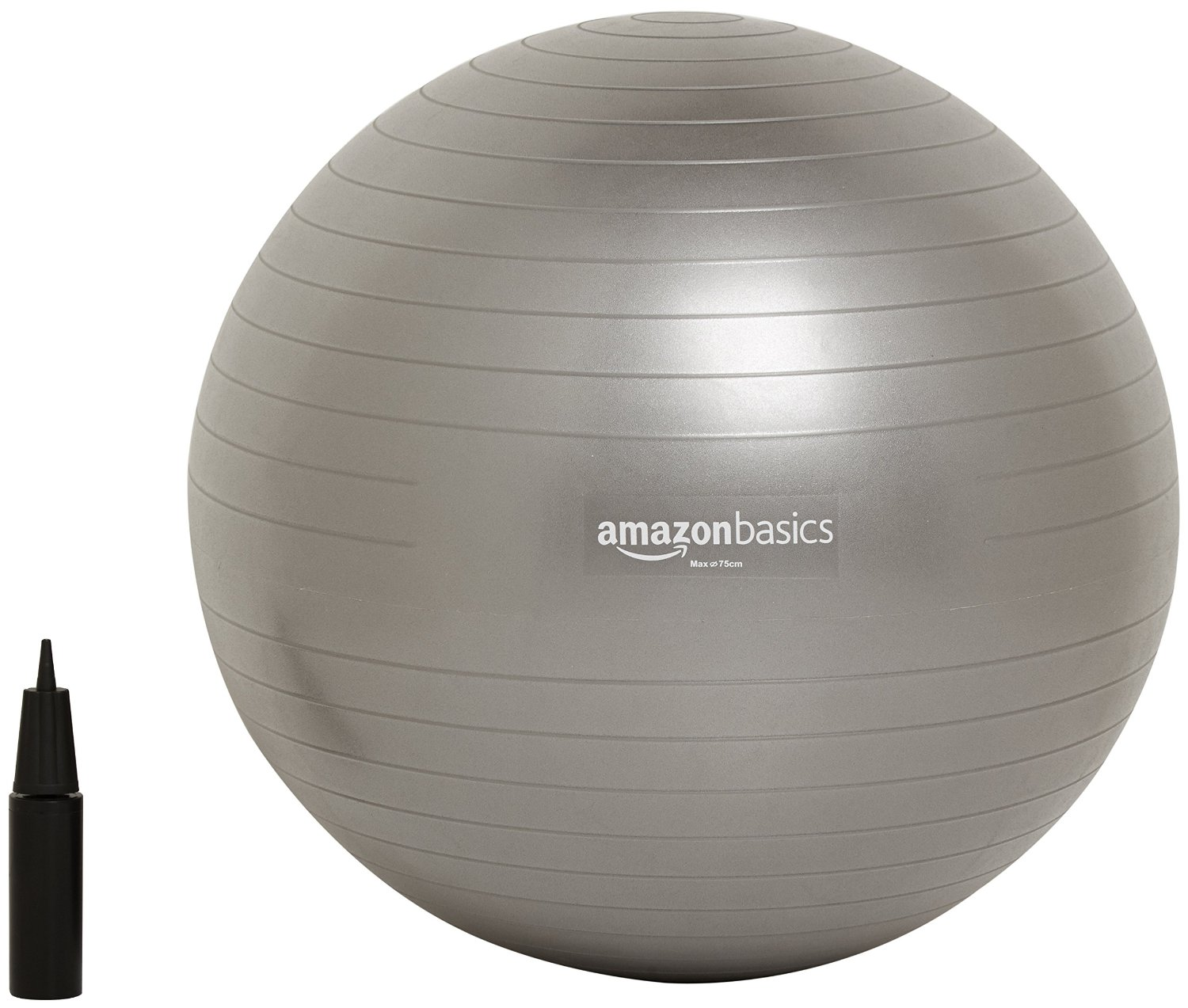 Balance ball office chair for a stronger core