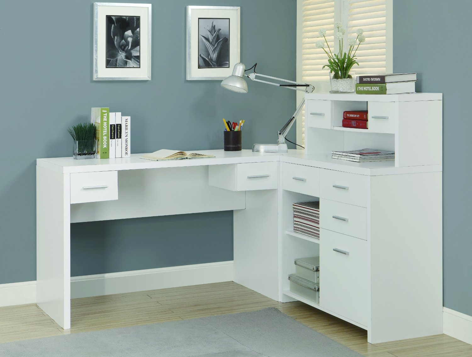 L shaped home office desk