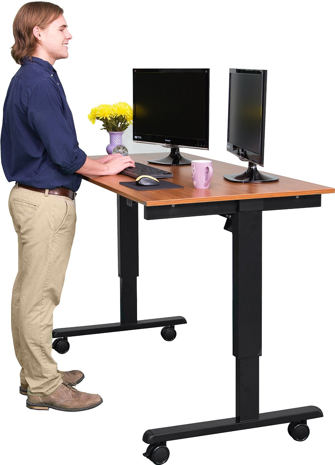 Electric stand up office desk
